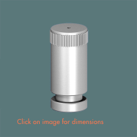 15.2 Floor fixed tensioner Satin Polished Stainless Steel