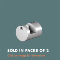 15.22 Picture Hook (sold in packs of 2) Satin Anodised Aluminium