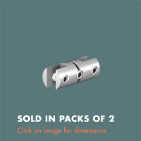 15.29 Double Sided Picture/Panel Grip (sold in packs of 2) Satin Polished Stainless Steel