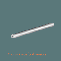 15.16 Spacer Bar with 200 Cable Centres Satin Polished Stainless Steel