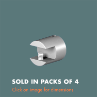 15.18 Single Sided Glass Shelf Support (sold in packs of 4)