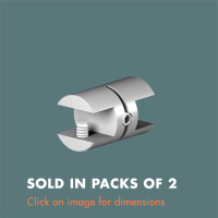 15.26 Double Sided Glass Shelf Support (sold in packs of 2) Satin Polished Stainless Steel