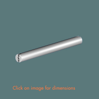 3.15 Spacer Bar with 200 Cable Centres Mirror Polished Stainless Steel