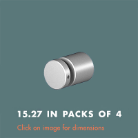15.27 Panel Support (sold in packs of 4) Satin Anodised Aluminium