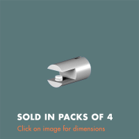 15.34 Single Sided Glass Shelf Support (sold in packs of 4) Mirror Polished Stainless Steel