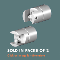 15.30 Swivel Grip for Shelves/Panels (sold in packs of 2) Satin Polished Stainless Steel