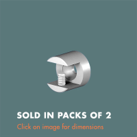 15.31 Wall Fixed Shelf/Panel Grip (sold in packs of 2) Mirror Polished Stainless Steel