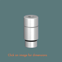 ERT.R.3(6) Floor/base Fixing and Tensioner for Track Mirror Polished Stainless Steel