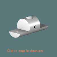 R.10(12) Double Sided Shelf Support (solid) Mirror Polished Stainless Steel