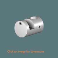 R.11(12) Picture Support Hook (solid) Satin Anodised Aluminium