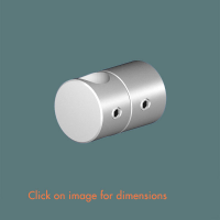 R.12(12) Single Rod Wall Mounting Satin Polished Stainless Steel