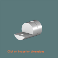 R.9(6) Single Sided Shelf Support (2 piece component) Mirror Polished Stainless Steel