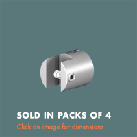 15.13 Single Sided Panel Grip (sold in packs of 4) Satin Polished Stainless Steel