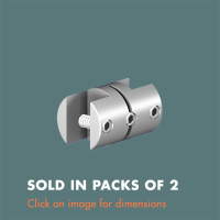 15.14 Double Sided Panel Grip (sold in packs of 2) Satin Anodised Aluminium