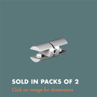 15.32 Double Sided Glass Shelf Grip (sold in packs of 2) Satin Polished Stainless Steel