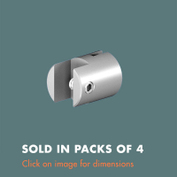 3.12 Single Sided Panel Grip (sold in packs of 4) Mirror Polished Stainless Steel