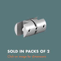 3.13 Double Sided Panel Grip (sold in packs of 2) Mirror Polished Stainless Steel