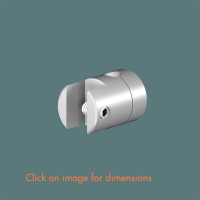R.6(6) Single Sided Panel Grip (2 piece component) Satin Polished Stainless Steel