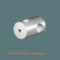 R.8(12) Cross Fixing Satin Polished Stainless Steel