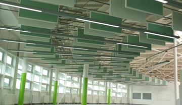 Acoustic Baffles and Rafts To Reduce Noise Level