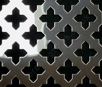 Oregon Polished Stainless Steel Decorative Grille Sheet Cross