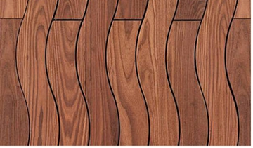 FSC ThermoWood Ash Hardwood Decking Curly Profile