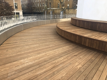 FSC ThermoWood Ash Hardwood Decking Shallow V-Groove Profile