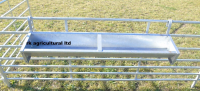 """4Ft 6"""" Hook Over Galvanised Feed Trough X2"""