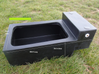 Water Trough Plastic 17 Gallon Complete With Ball Valve