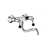 Delabie Commercial Kitchen Wall-Mounted Twin Hole Mixer 5645t2