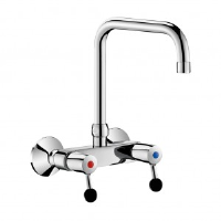 Delabie Commercial Kitchen Wall-Mounted Twin Hole Mixer Spout L. 200mm 5647t2