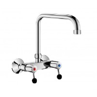 Delabie Commercial Kitchen Wall-Mounted Twin Hole Mixer Spout L. 200mm 5647t3