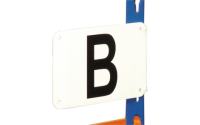 Aisle Marker comes with 2 black digits - H600mm x W600mm