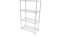 Anti-Bacterial Wire Shelving Bay - 4 shelf bay - Overall Size  H1625mm x W760mm x D305mm