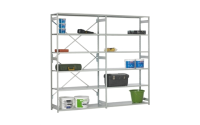 Stormor Open Bay Shelving -  Extension Bay - H2150mm x W1000mm x D450mm Open Back and Sides c/w 6 Shelf Levels