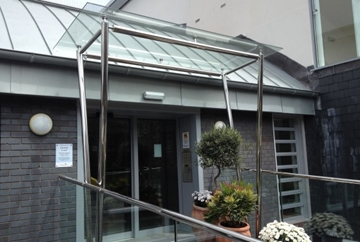 Stainless Steel Glass Canopies