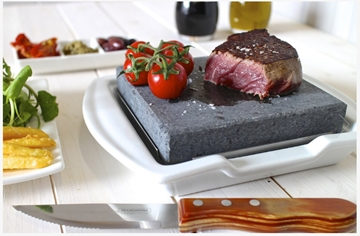 Black Rock Grill Steak Stone And Plate Set