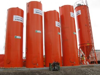 Vertical Tank For Storing Wastes