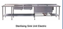 Sterilising Sink Units Electric and Gas