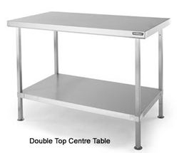 Double Top Wall Benches and Centre Tables