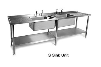 S Range Sink Units     with Heavy Duty Bowls