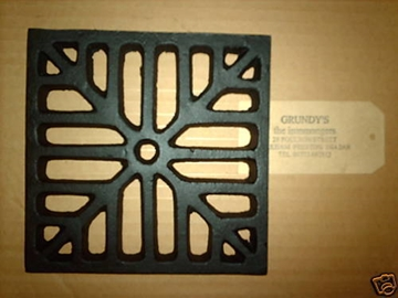 "9"" SQUARE Cast Iron Gully Grid Driveway Drain Cover"