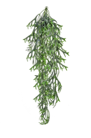 Artificial Staghorn Hanging Trail UV FR - 80cm, Green
