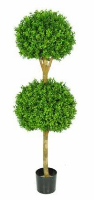 Artificial Topiary Buxus Double Ball Tree - 150cm, Green