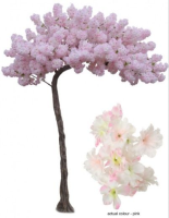 Artificial Silk Curved Cherry Blossom Bespoke Tree - 320cm, Pink