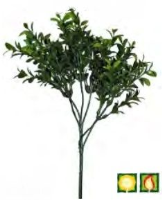 Artificial Foliage Buxus FR UV - 47cm, Green/Red