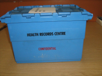 Medical Records Crate with Lettering