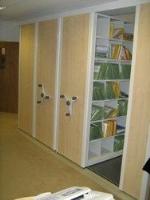 Roller Shelving with Deco Panels