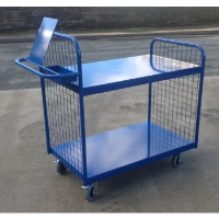 Steel Shelved Picking Trolley with Clipboard