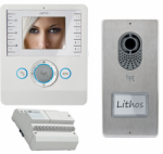 BPT Perla 1 button Kits with Lithos entry Panel